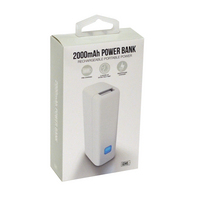 GEMS 2000 MAH POWER BANK WHITE