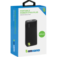 OnHand Portable Power Stick Plus 5000mAh Black