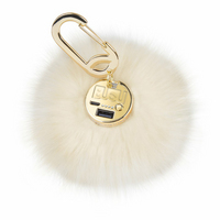 BuQu Power Poof Purse Charm 2500 mAh Power Bank for USB Devices in White