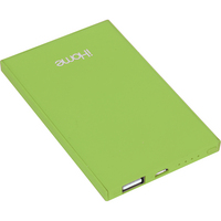 iHome Slim Charge Power bank, Lime, 4000mAH