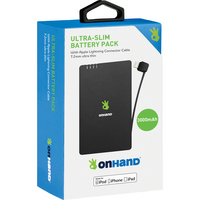 OnHand Ultra Slim Battery Pack 3000mAh Black