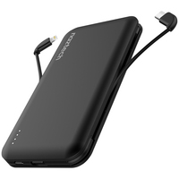 Naztech Lightning and USBC Power Bank, 10000mAh, Black