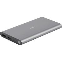 Moshi IonSlim 10K Power Bank, 10,300mAh, Gray