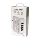 GEMS 4 PORT WALL CHARGER WHITE
