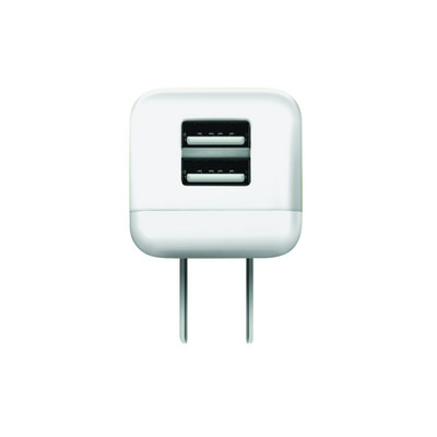 GEMS Dual USB Wall Charger White