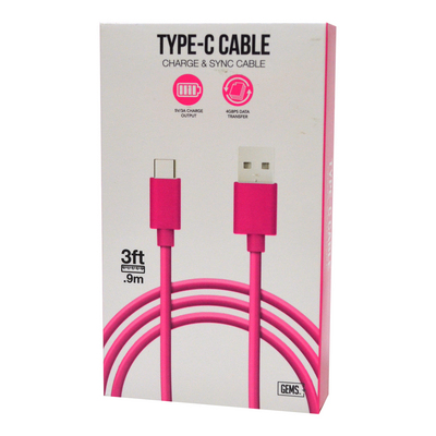 Type C Cable Pink
