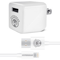 Hypercel  Wall Charger wLightning Cable 2.4A White