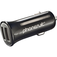 PhoneSuit USB Car ChargerBlack, 2.1A
