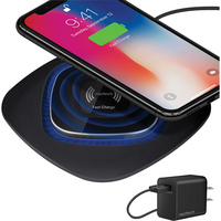 Naztech Power Pad Qi Wireless Fast Charger, 10W, Black