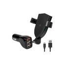 Libratel Wireless Car Charger with Adapter, 15W, Black