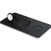 Satechi Trio Wireless Charging Pad, 4.53x8.66x.51in, Space Gray
