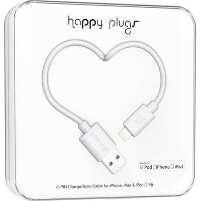 Happy Plugs Lightning White