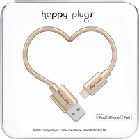 Happy Plugs 9930 Lightning to USBSync Cable Matte Gold