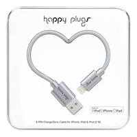 Happy Plugs Charge & Sync Cable, Space Gray