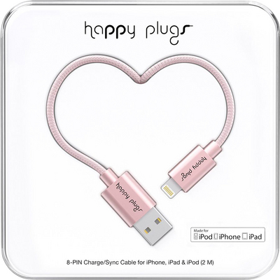 Happy Plugs Pink Gold Lightning