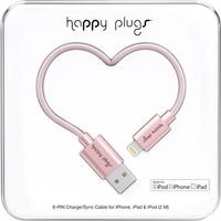 Happy Plugs Charge & Sync cable, Pink Gold, 2m