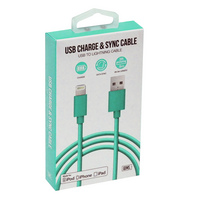 GEMS LIGHTNING CABLE 3FT TEAL