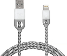 iHome Dual SR Nylon Charging Cable,6ft,White