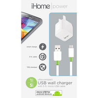 iHome USB Wall Charger with Lightning