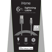 LIFE IHCT1044B MESH LTNG Cable Black 6FT 1PK