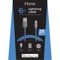 LIFE IHCT1044N MESH LTNG Cable BLUE 6FT 1PK