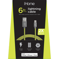 iHome Mesh Charging Cable,GreenYellow