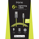 LIFE IHCT1044EY MESH LTNG Cable GRNYLW 6FT 1PK