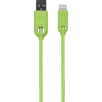 iHome Dual SR Charging Cable, 6ft, Lime