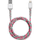 iHome  6ft Lightning Cable PinkTeal