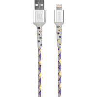 iHome  6ft Lightning Cable Purple Yellow