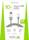 iHome Nylon Micro USB Charge and Sync Cable