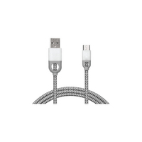 iHome Dual SR Nylong 6ft Micro Cable White