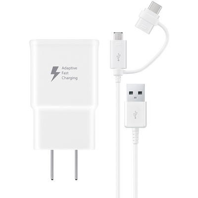 Samsung Fast Charge Travel Charger, White