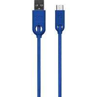 iHome Dual SR Charging cable, Blue, 6 ft