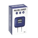 GEMS Dual USB Wall Charger Blue