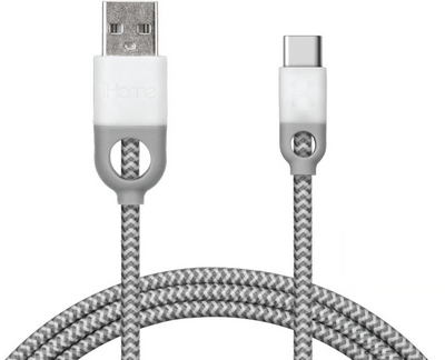 iHome USBC Cable White 5ft