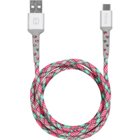 iHome 6ft Type AC Cable PinkTeal