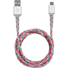 iHome 6 ft Type AC Cable PinkTeal
