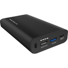 Naztech USBC PD and Adaptive Fast Charge Portable Charger, 13400mAh, Black