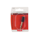 RCA .25in Plug to 3.5mm Jack Adapter,Black