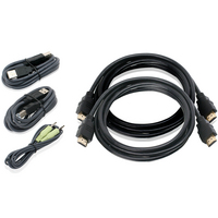 IOGEAR 6ft Dual View HDMI, USB KVM Cable Kit with Audio