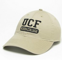 Unstructured washed twill cap with raised embroidered University of Central Florida, 100% Cotton. Get the hat that's got Central Florida pride. Click photo to view other possible graphic options.