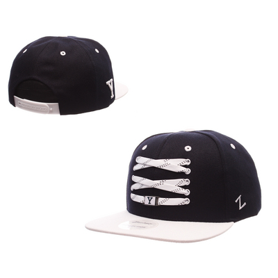 The Yale Bookstore - Zephyr Adult Skate Lacer Flat Bill Adjustable Snapback  hat 46fcabeed9a