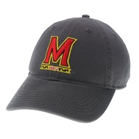 Unstructured washed twill cap with raised embroidered University of Maryland, 100% Cotton. Wear your Maryland spirit! Click photo to view other possible graphic options.