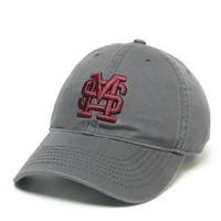 Unstructured washed twill cap with raised embroidered Mississippi State University 100% Cotton. Wear your Mississippi State spirit! Click photo to view other possible graphic options.