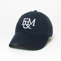 Unstructured cap with raised embroidered School Logo, 100% Cotton