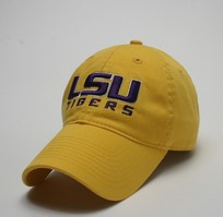 Unstructured washed twill cap with raised embroidered Louisiana State University 100% Cotton. Wear your Louisiana State spirit! Click photo to view other possible graphic options.