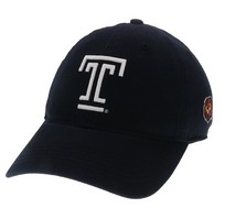 Unstructured washed twill cap with two location raised embroidered Temple University, 100% Cotton. Show your Temple pride! Click photo to view other possible graphic options.