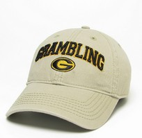 Unstructured washed twill cap with raised embroidered Grambling State University 100% Cotton. Wear your Grambling spirit! Click photo to view other possible graphic options. Imported.