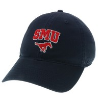 Unstructured washed twill cap with raised embroidered Southern Methodist University, 100% Cotton. Wear your Southern Methodist spirit! Click photo to view other possible graphic options.
